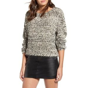 J.O.A. Button Back Sweater Taupe Multi XS